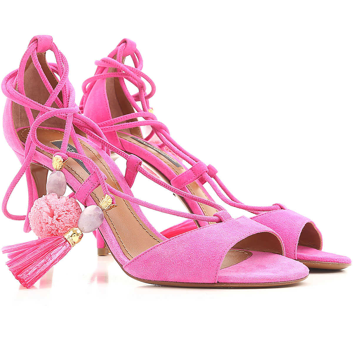 Dolce & Gabbana Sandals for Women On Sale in Outlet Fuchsia DK - GOOFASH - Womens SANDALS