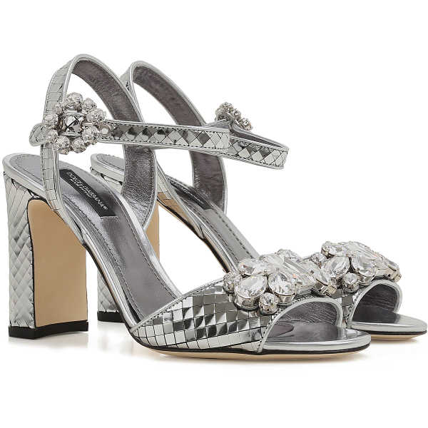 Dolce & Gabbana Sandals for Women On Sale in Outlet Silver DK - GOOFASH - Womens SANDALS