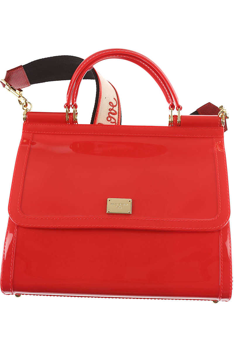Dolce & Gabbana Tote Bag On Sale Red DK - GOOFASH - Womens BAGS
