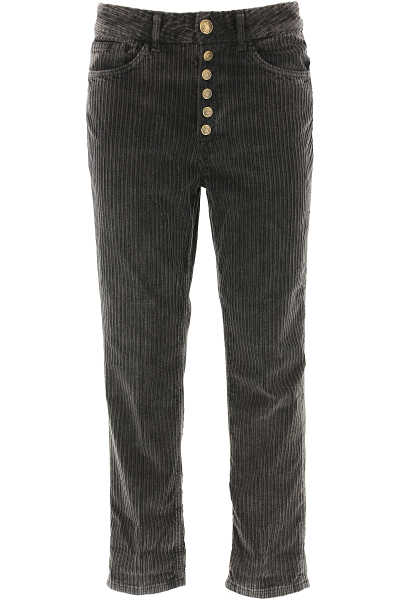 Dondup Pants for Women Dark Anthracite Grey DK - GOOFASH - Womens TROUSERS