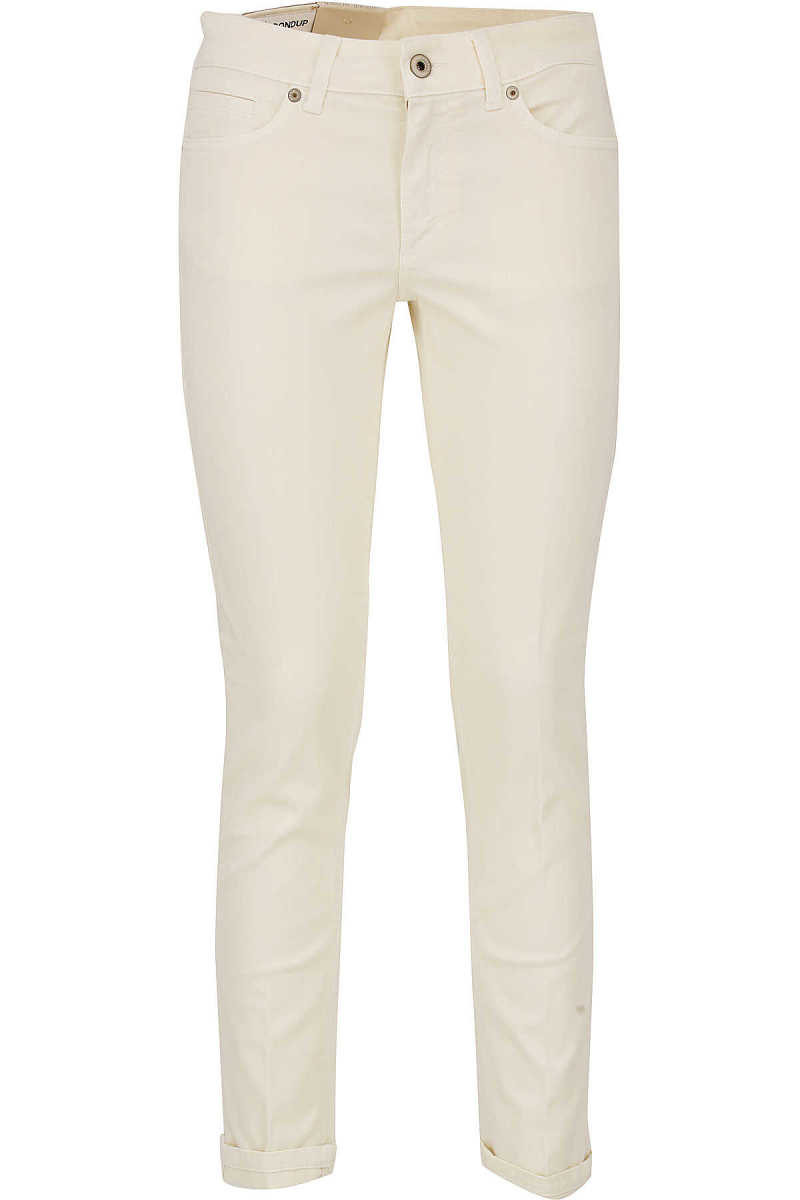 Dondup Pants for Women On Sale Butter DK - GOOFASH - Womens TROUSERS