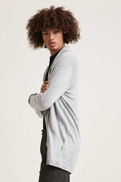 Draped Open-Front Cardigan at Forever 21