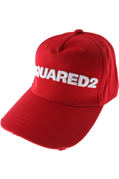 Dsquared2 Hat for Women On Sale Red DK - GOOFASH - Mens HATS