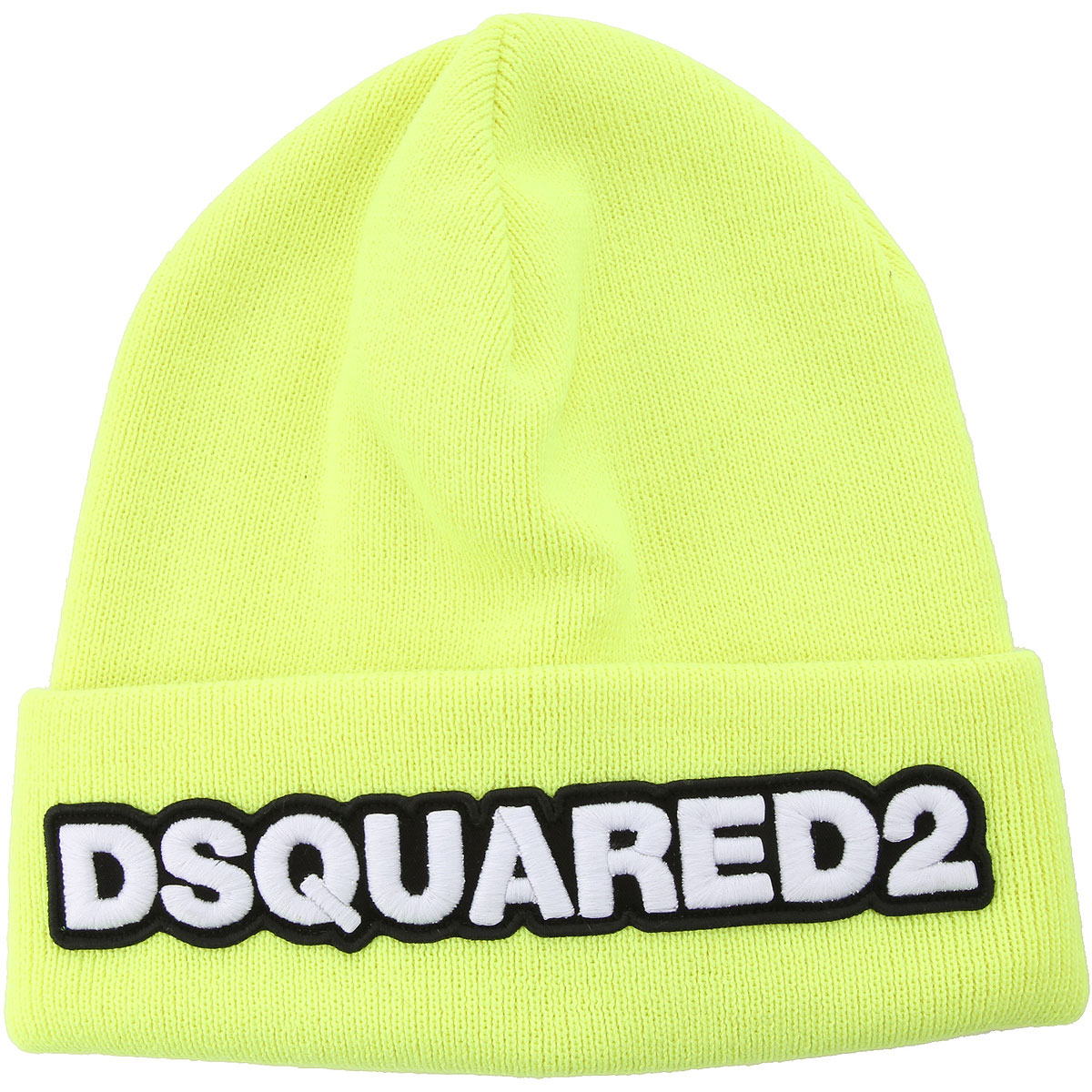 Dsquared2 Hat for Women fluo yellow DK - GOOFASH - Mens HATS
