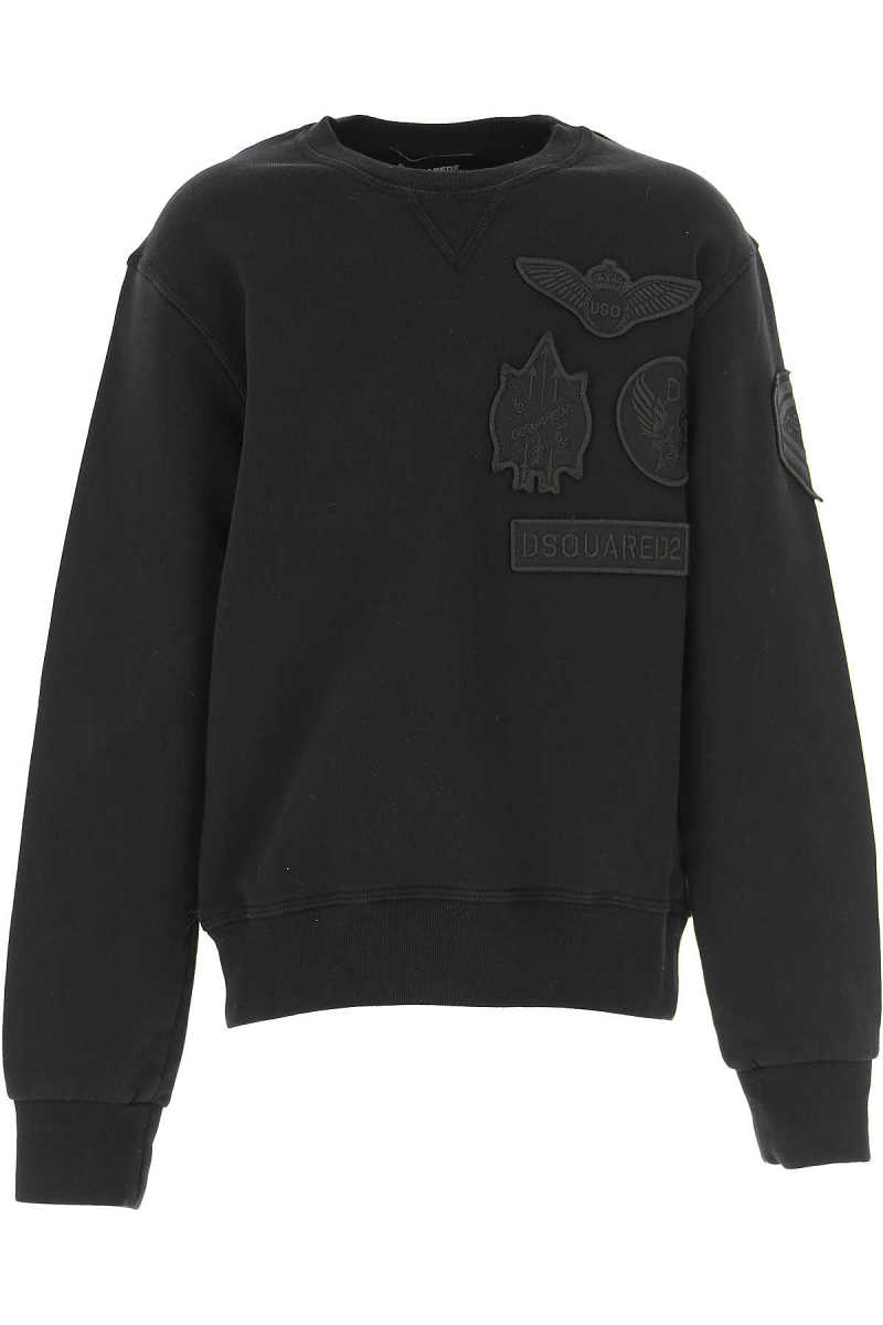 Dsquared2 Kids Sweatshirts & Hoodies for Boys On Sale in Outlet Black DK - GOOFASH - Mens SWEATERS