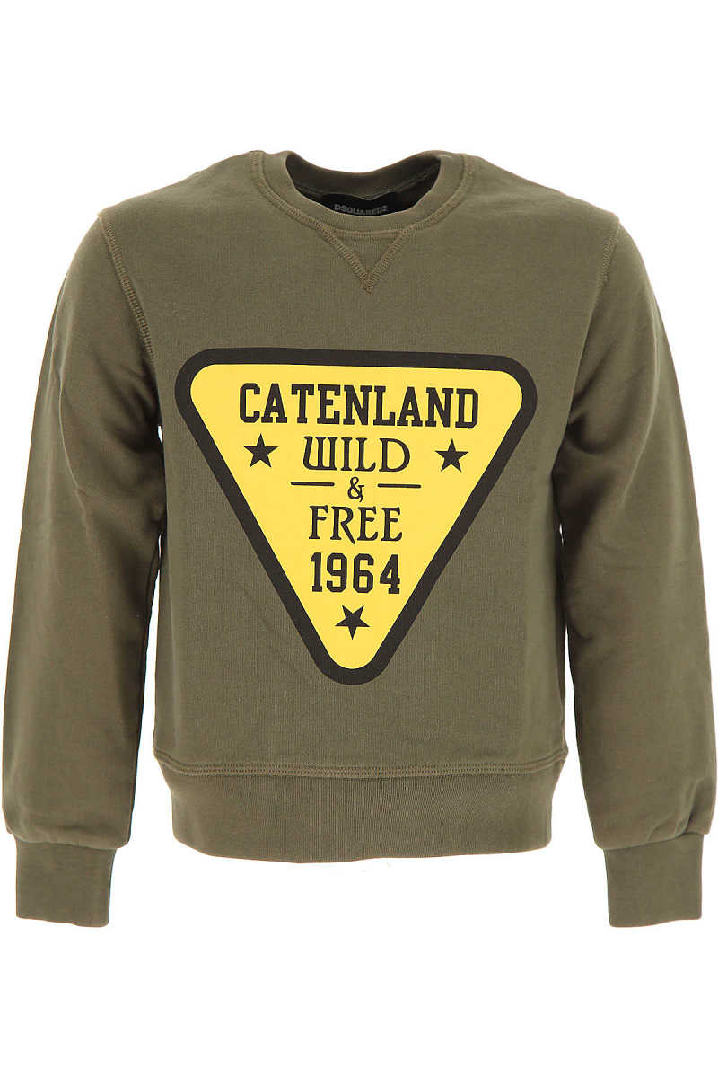Dsquared2 Kids Sweatshirts & Hoodies for Boys On Sale in Outlet Green DK - GOOFASH - Mens SWEATERS