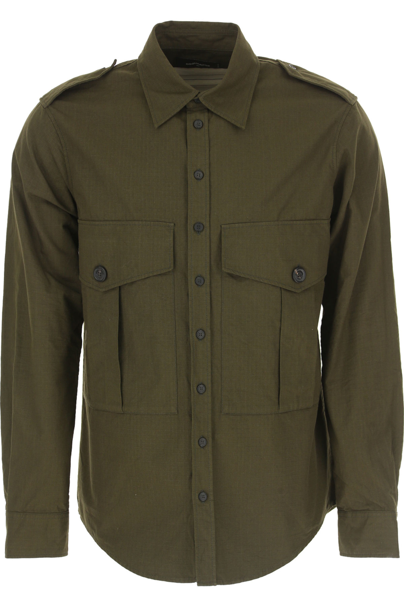 Dsquared2 Shirt for Men On Sale Military Green DK - GOOFASH - Mens SHIRTS