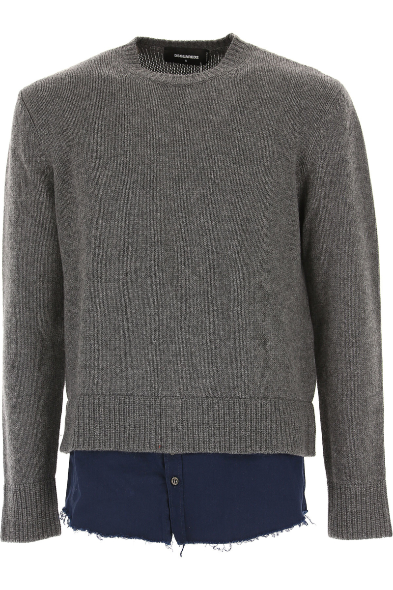Dsquared2 Sweater for Men Jumper On Sale in Outlet Grey DK - GOOFASH - Mens SWEATERS