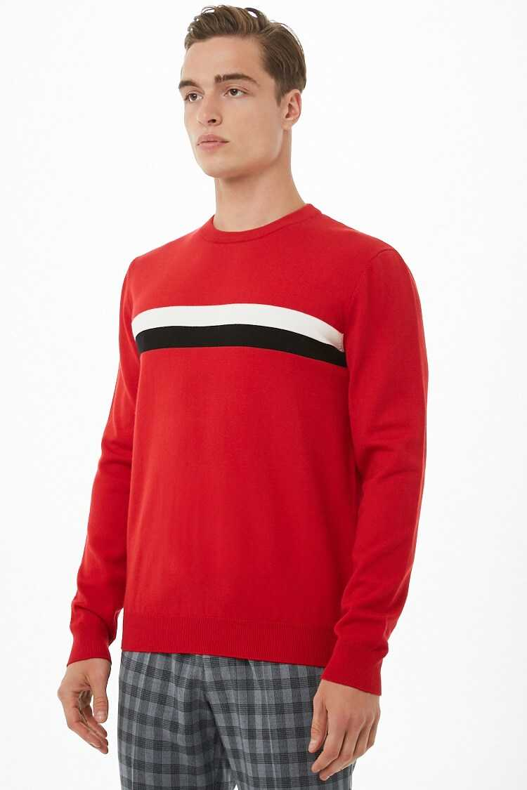 Dual-Stripe Knit Sweater at Forever 21