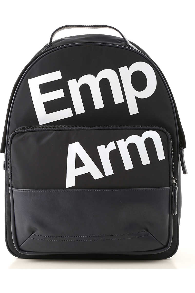 Emporio Armani Backpack for Men On Sale navy DK - GOOFASH - Mens BAGS