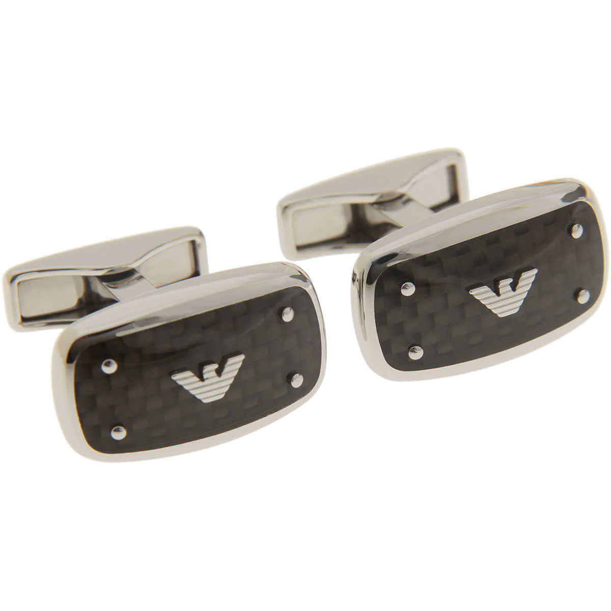 Emporio Armani Cufflinks for Men On Sale in Outlet Silver DK - GOOFASH -