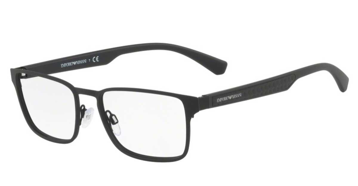 Emporio Armani EA 1063 Eyeglasses Black Rubber USA - GOOFASH - Mens SUNGLASSES