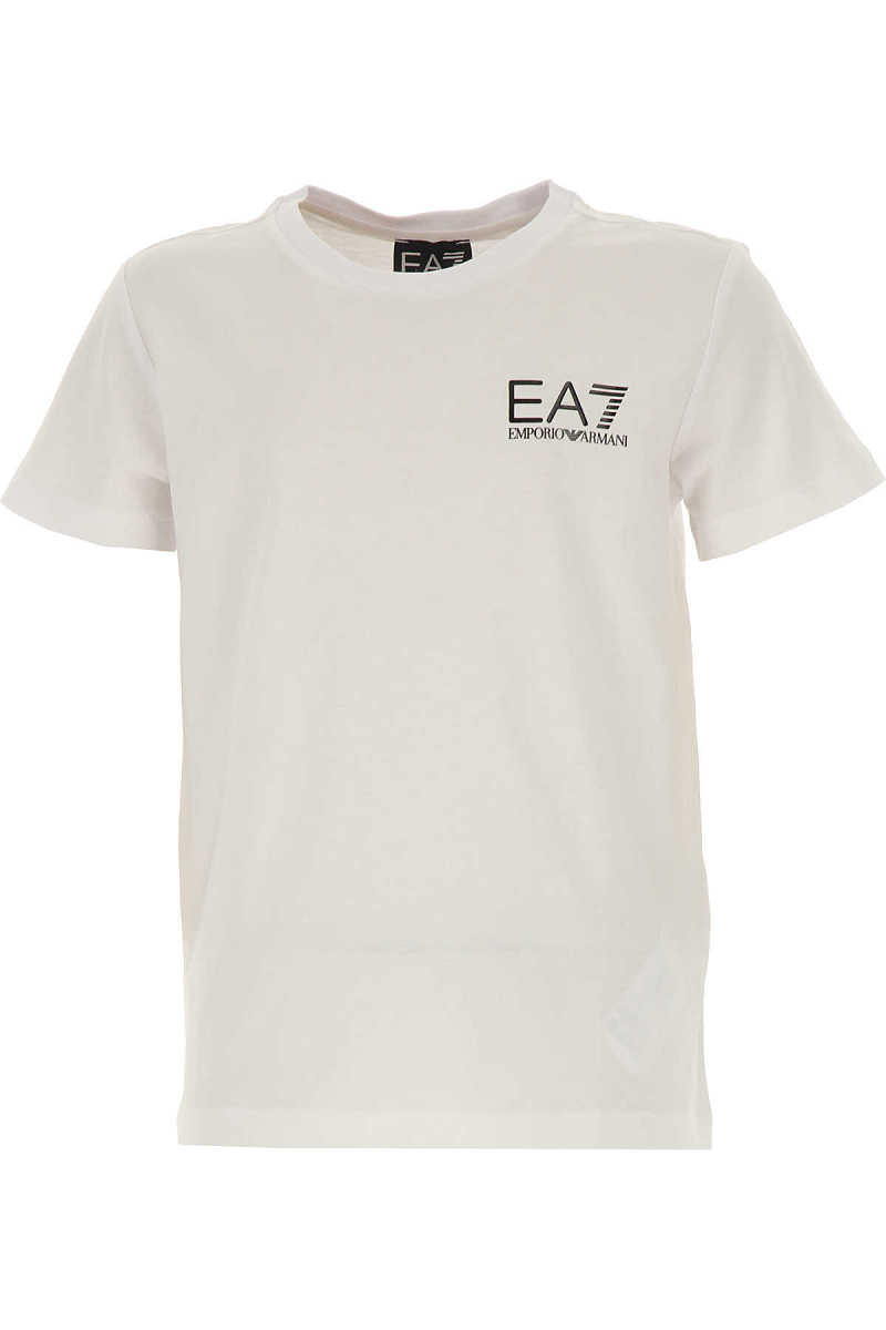 Emporio Armani Kids T-Shirt for Boys On Sale White DK - GOOFASH - Mens T-SHIRTS