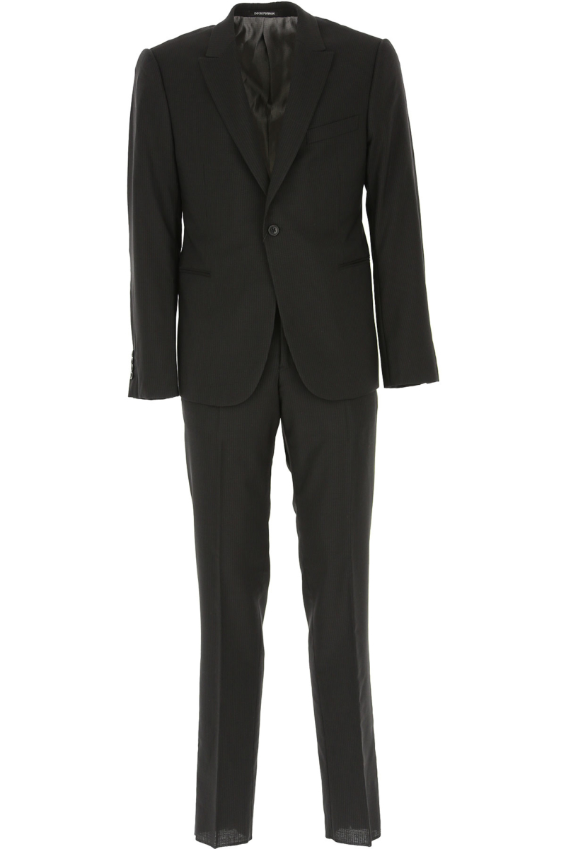 Emporio Armani Men's Suit Black DK - GOOFASH - Mens SUITS