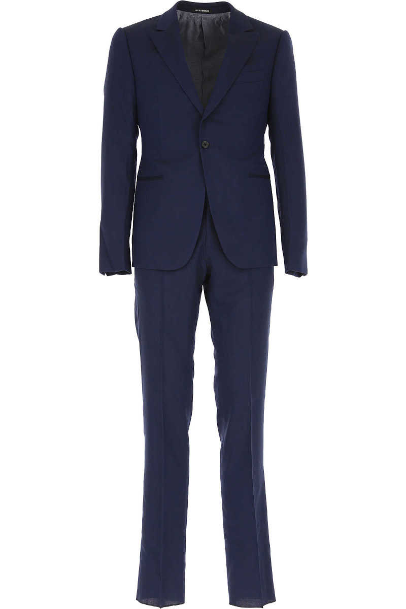 Emporio Armani Men's Suit Blue DK - GOOFASH - Mens SUITS
