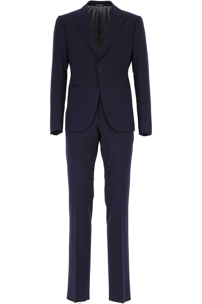 Emporio Armani Men's Suit On Sale Blue DK - GOOFASH - Mens SUITS