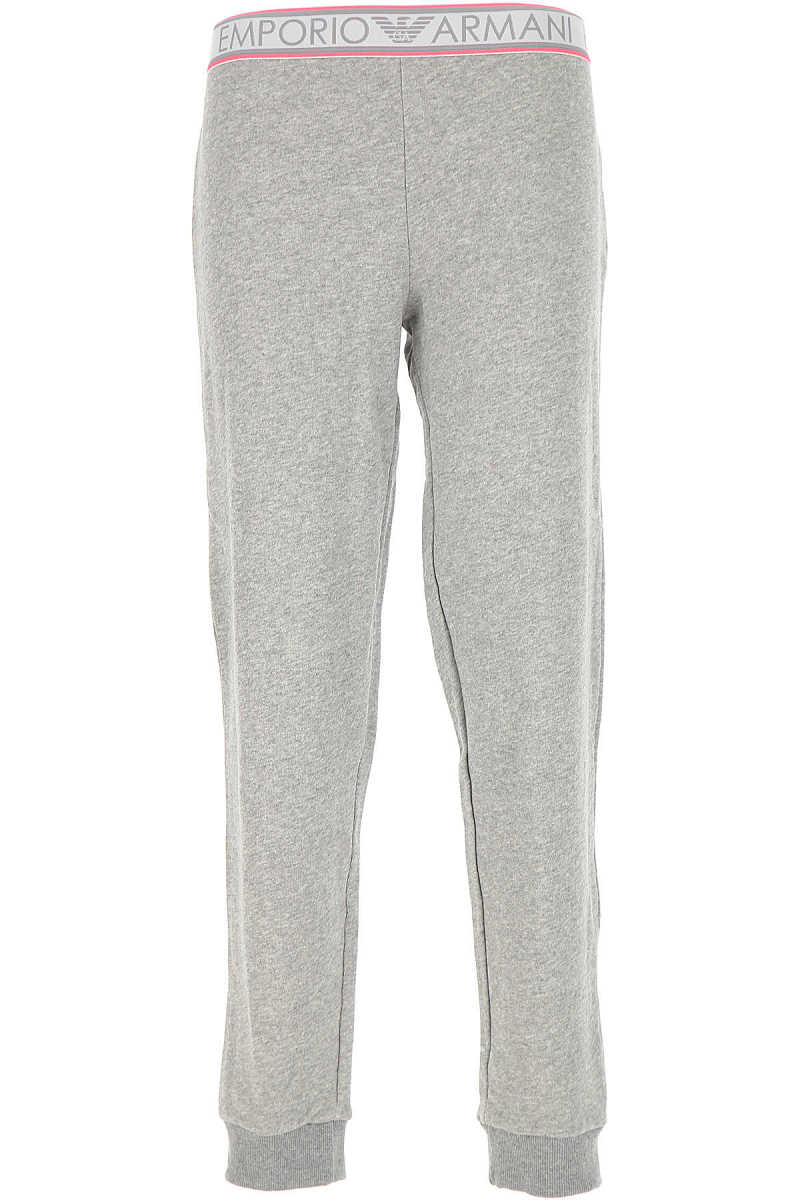 Emporio Armani Pants for Women On Sale Melange Grey DK - GOOFASH - Womens TROUSERS