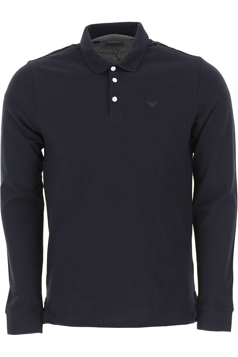 Emporio Armani Polo Shirt for Men Dark Blue DK - GOOFASH - Mens POLOSHIRTS