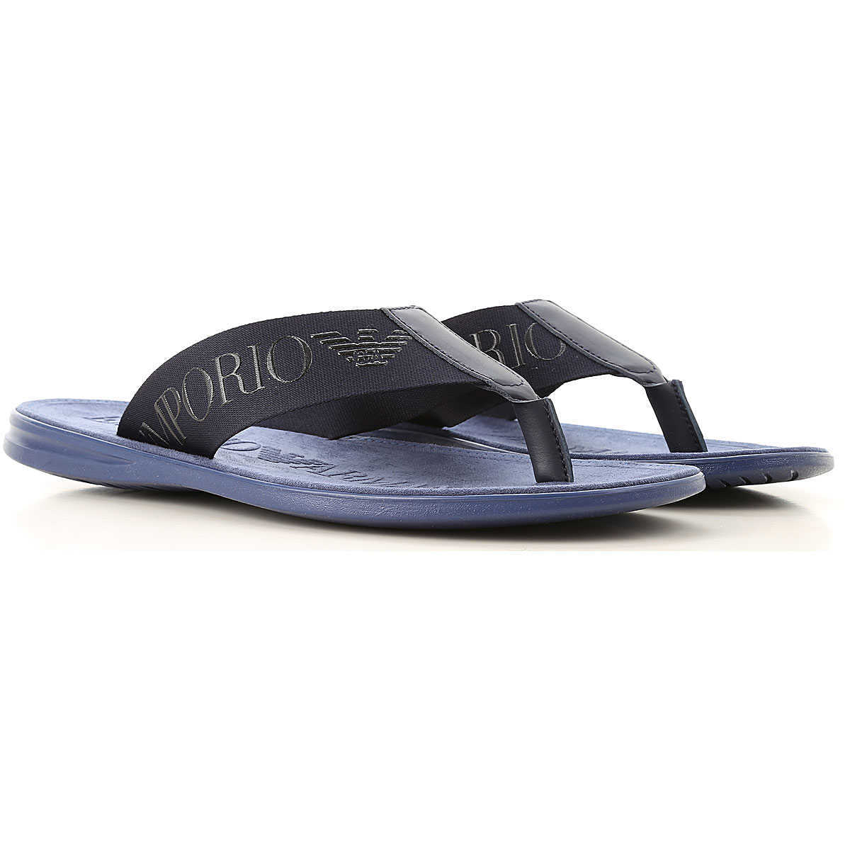 Emporio Armani Sandals for Men On Sale Night Blue DK - GOOFASH - Mens SANDALS