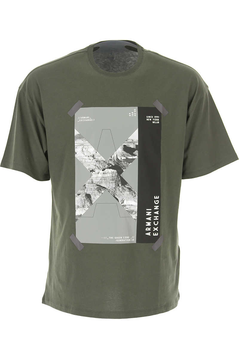 Emporio Armani T-Shirt for Men On Sale Forest Green DK - GOOFASH - Mens T-SHIRTS