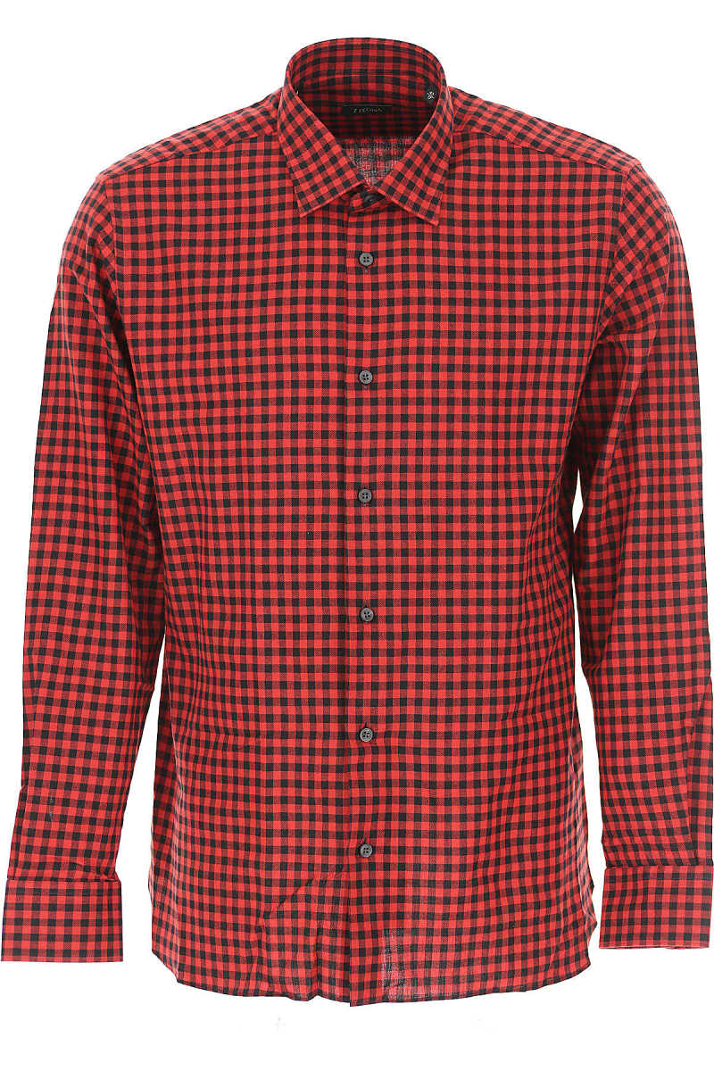 Ermenegildo Zegna Shirt for Men On Sale in Outlet Dark Red DK - GOOFASH - Mens SHIRTS