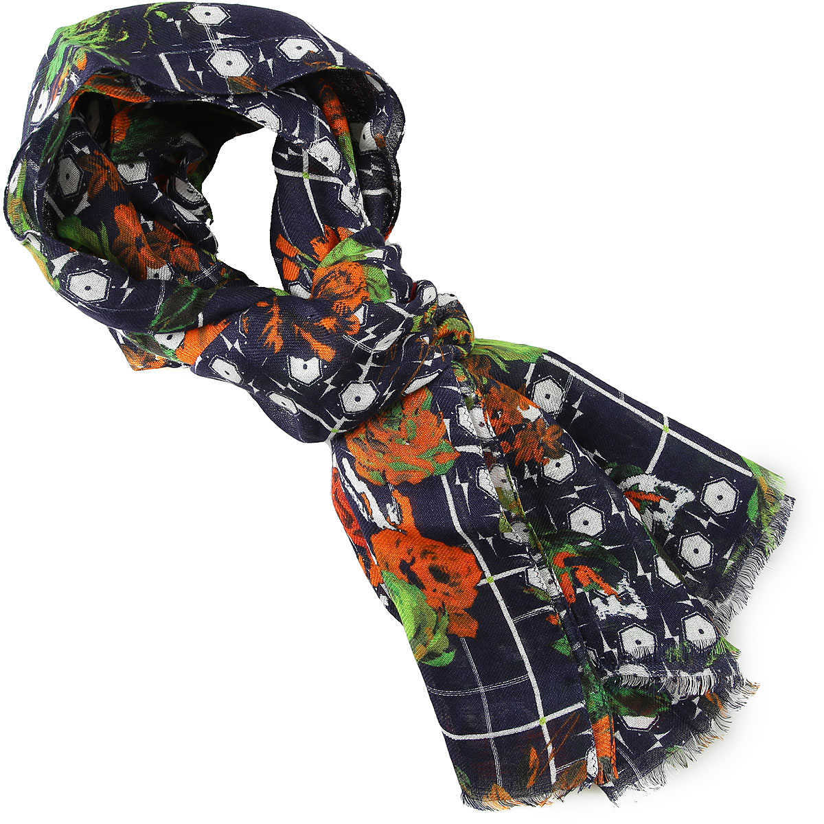 Etro Scarf for Men On Sale Dark Blue DK - GOOFASH - Mens SCARFS