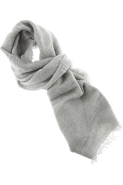 Fabiana Filippi Scarf for Women On Sale Grey Ice DK - GOOFASH - Womens SCARFS