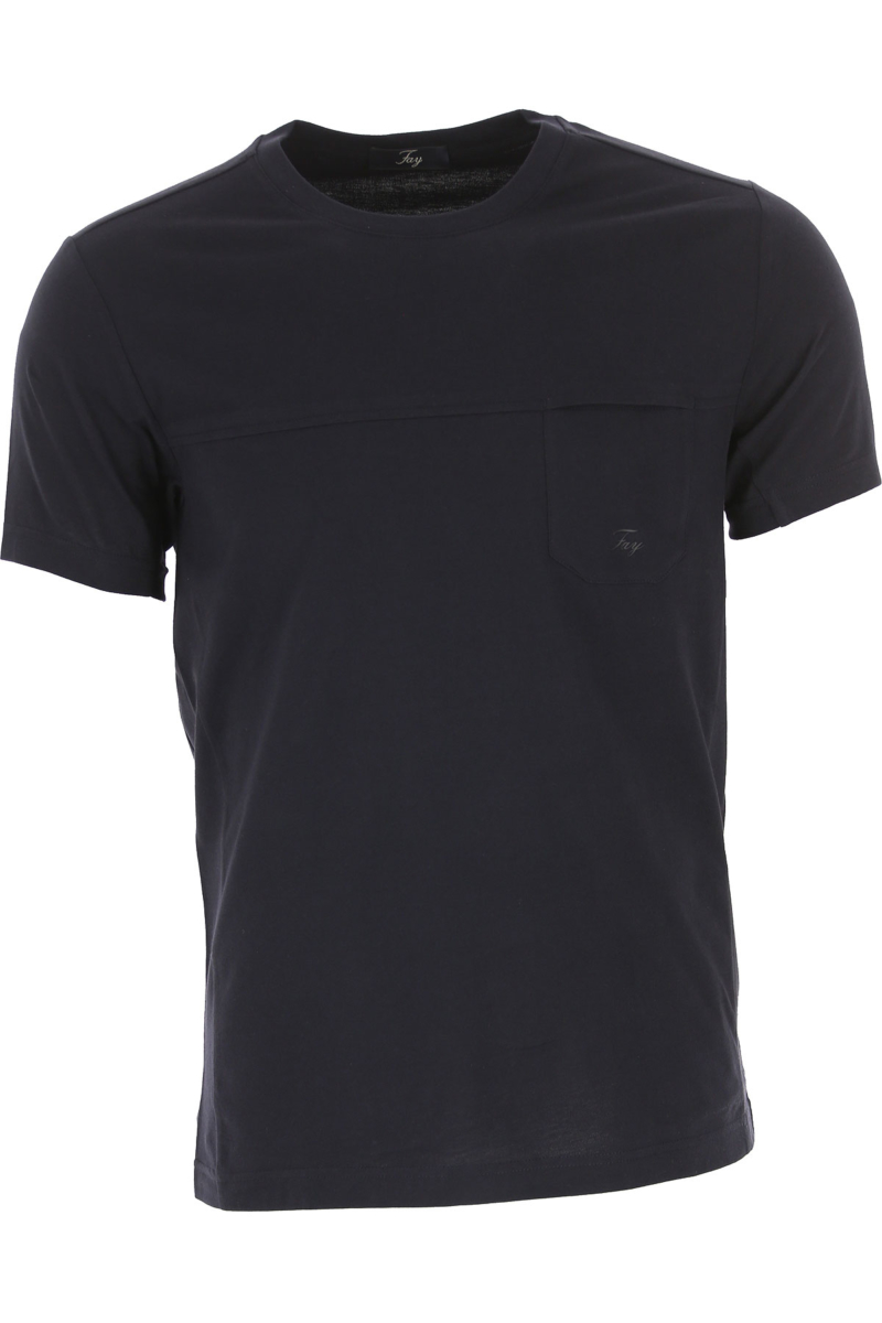 Fay T-Shirt for Men On Sale Blue Ink DK - GOOFASH - Mens T-SHIRTS