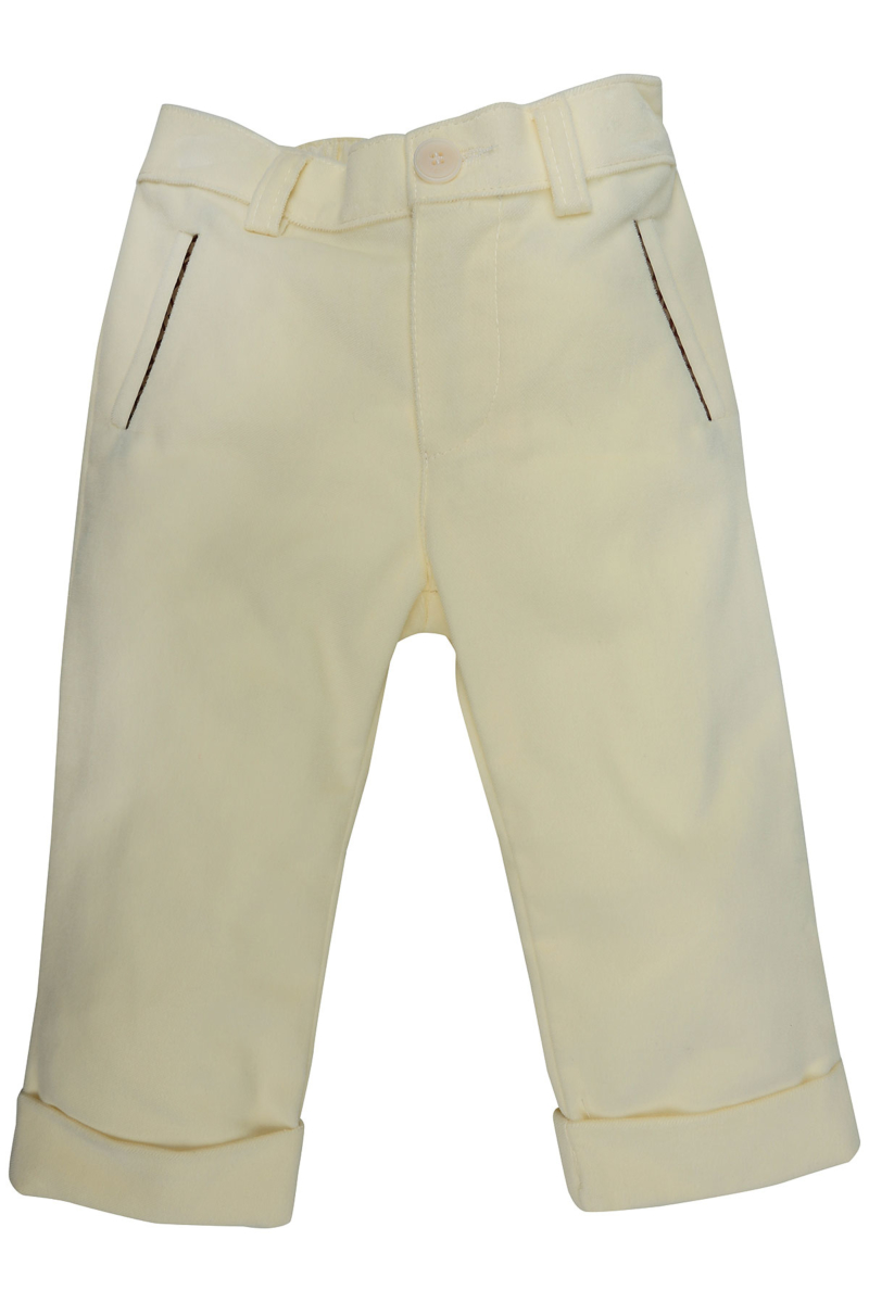 Fendi Baby Pants for Boys On Sale in Outlet Cream DK - GOOFASH - Mens TROUSERS