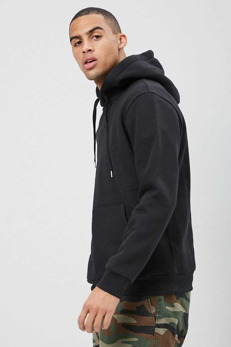 Fleece Knit Drawstring Hoodie at Forever 21