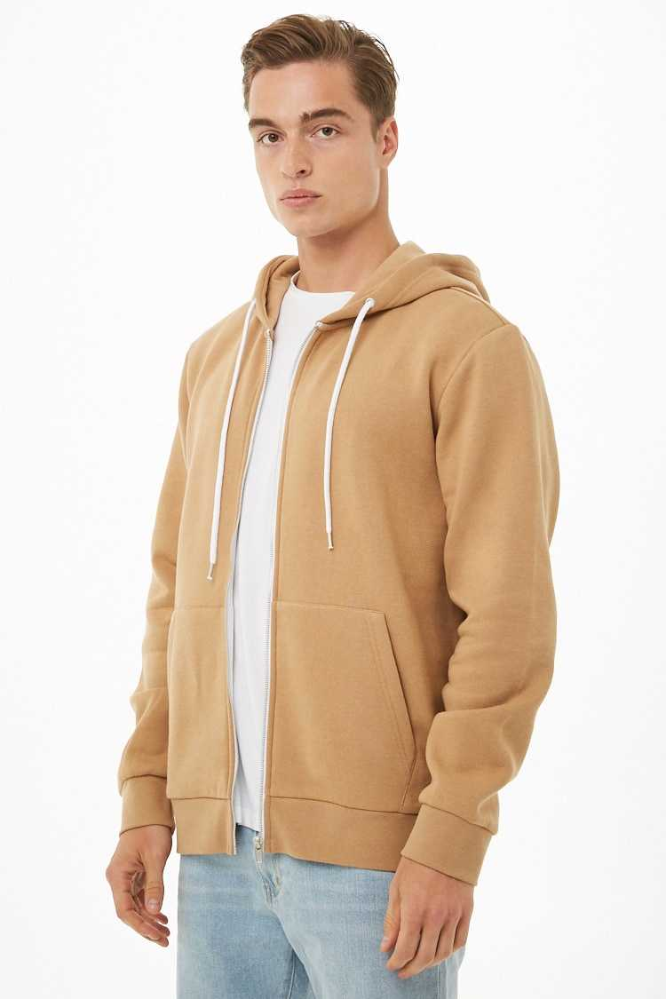 Fleece Zippered Hoodie at Forever 21