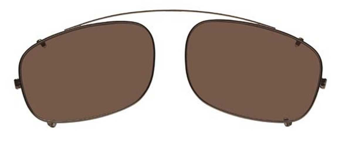Flexon FLEXON 610 CLIP-ON Sunglasses (905) Light Bronze USA - GOOFASH - Mens SUNGLASSES