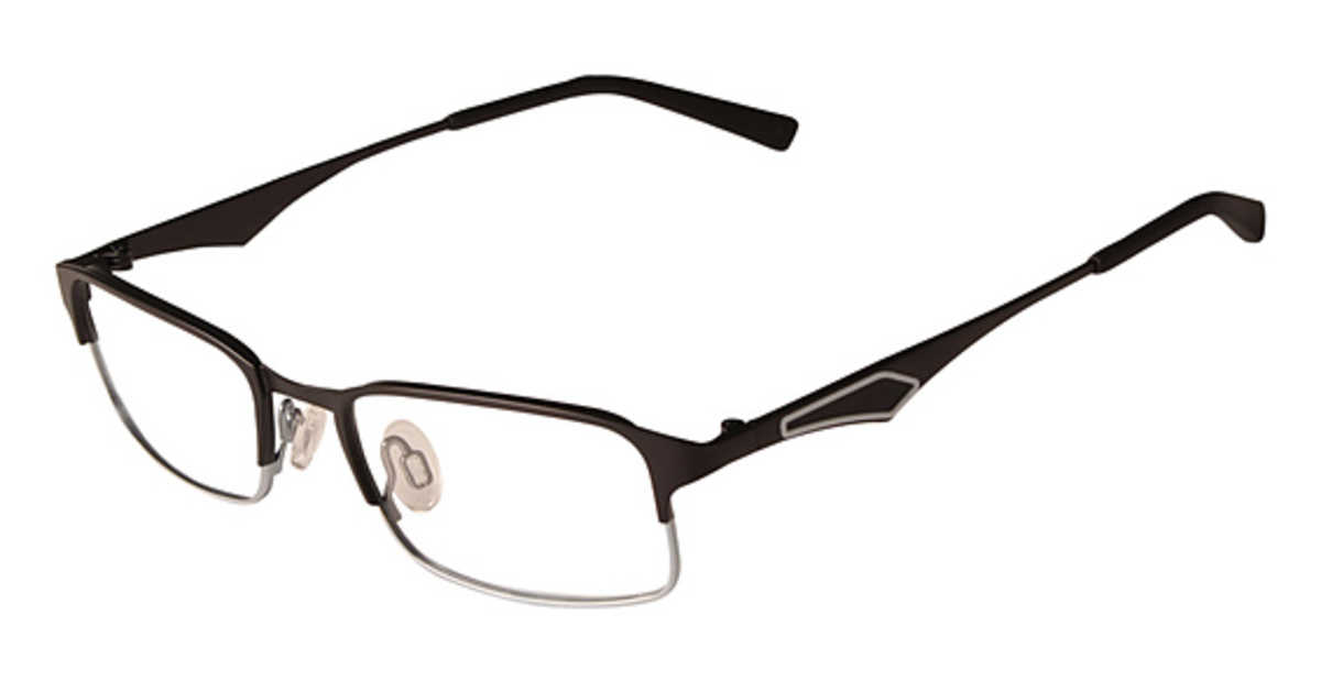 Flexon FLEXON KIDS CAPRICORN Eyeglasses (002) Black Silver USA - GOOFASH - Mens CAPS