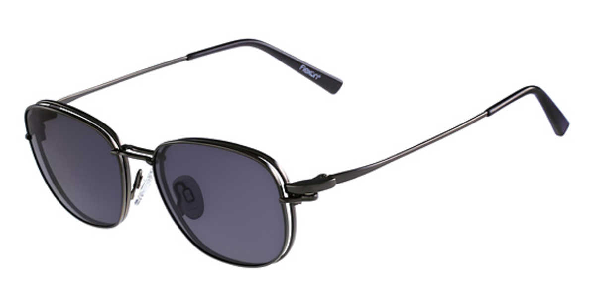 Flexon FLX 902 MAG-SET Eyeglasses (033) Gunmetal USA - GOOFASH - Mens SUNGLASSES