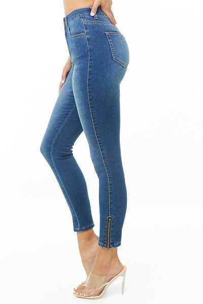 Forever 21 Ankle-Zip High-Rise Jeans