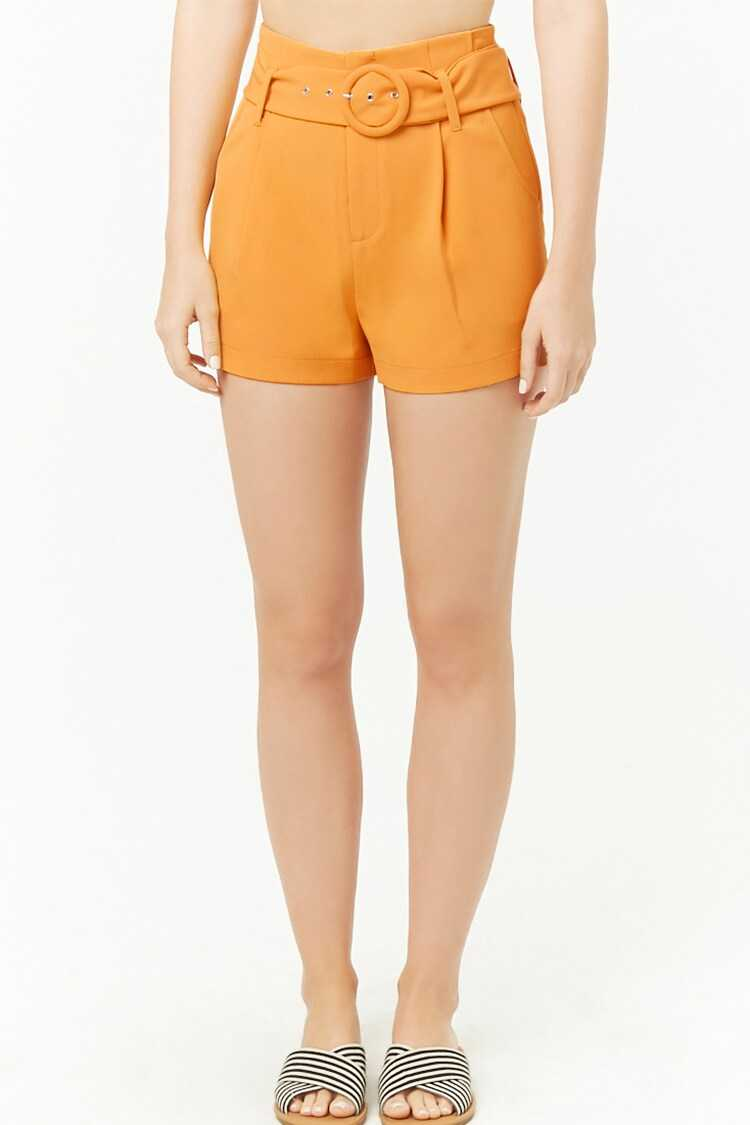 Forever 21 Belted High-Rise Shorts