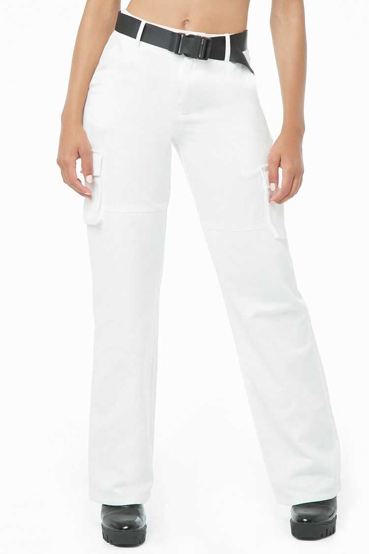 Forever 21 Belted Utility Pants