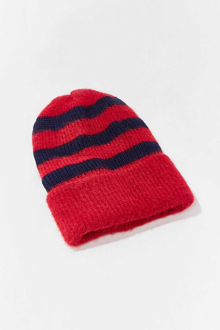Forever 21 Brushed Knit Striped Beanie