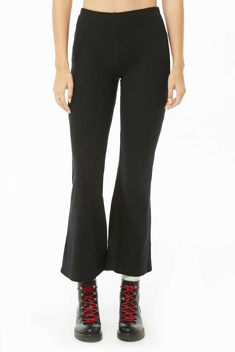Forever 21 Brushed Ribbed Knit Flare Pants