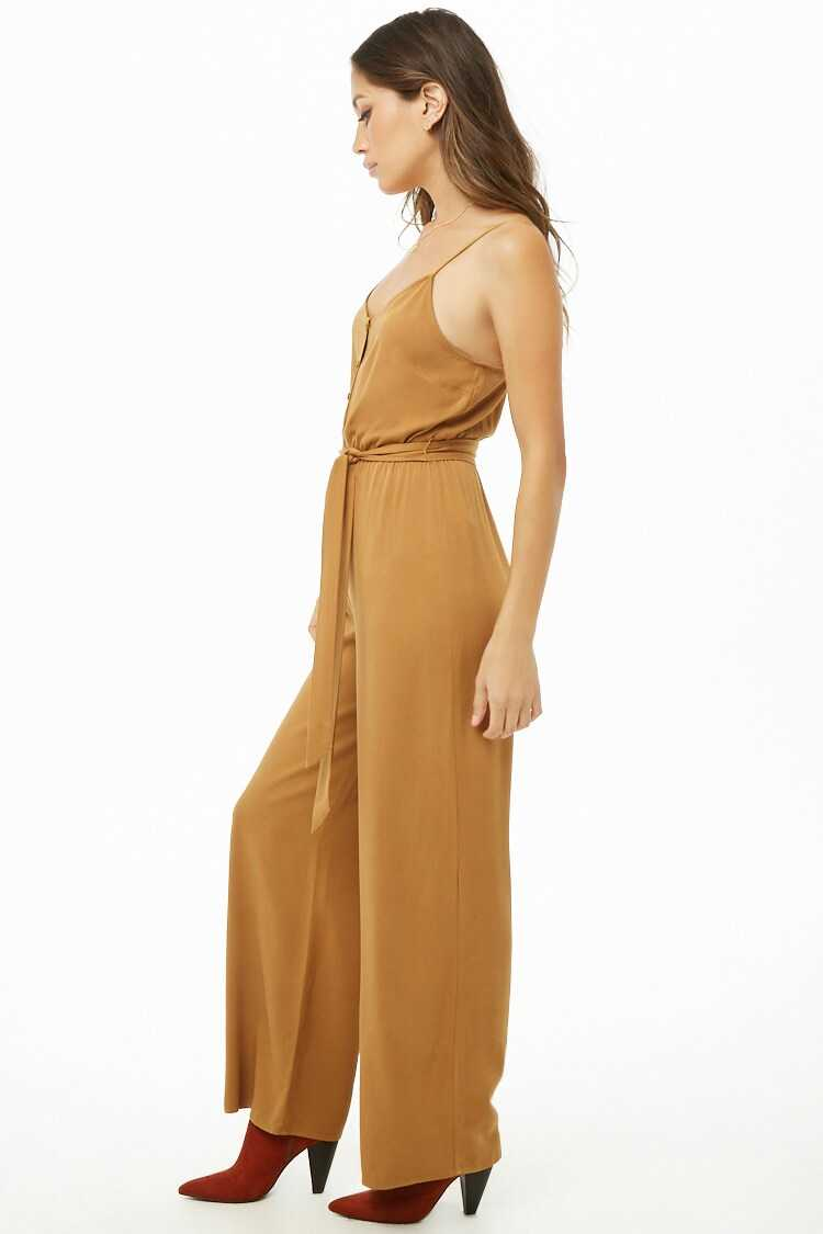 Forever 21 Button-Front Cami Jumpsuit