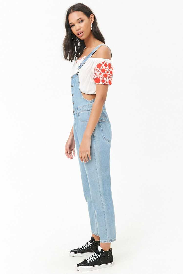 Forever 21 Button-Front Denim Overalls