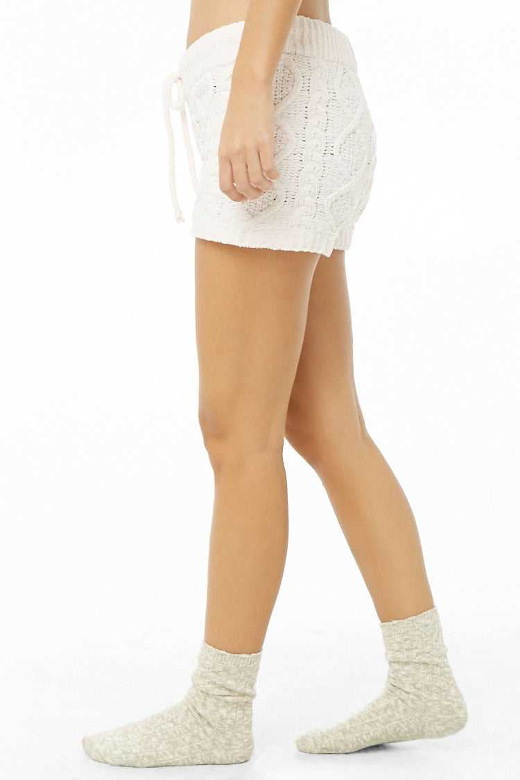 Forever 21 Chenille Cable Knit Shorts