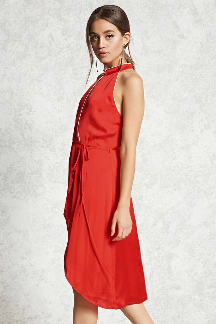 Forever 21 Contemporary Satin Wrap Dress