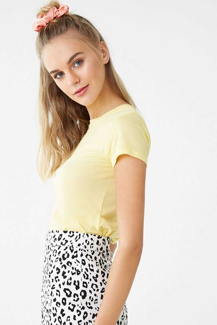Forever 21 Cotton-Blend Baby Tee