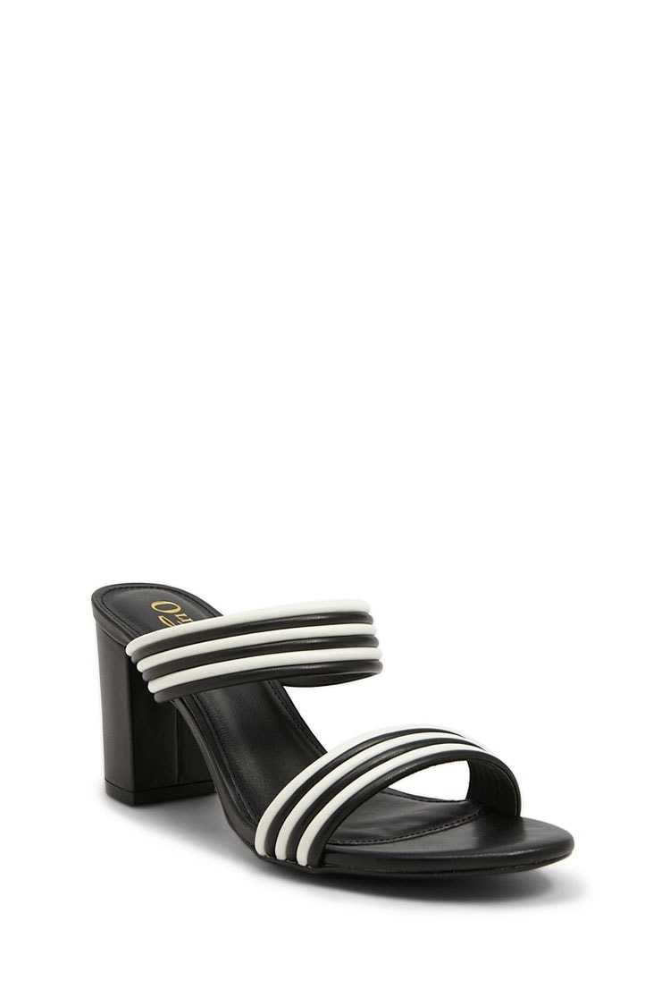 Forever 21 Faux Leather Colorblock Mules