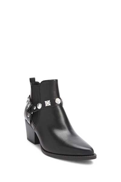 Forever 21 Faux Leather Studded Ankle Boots