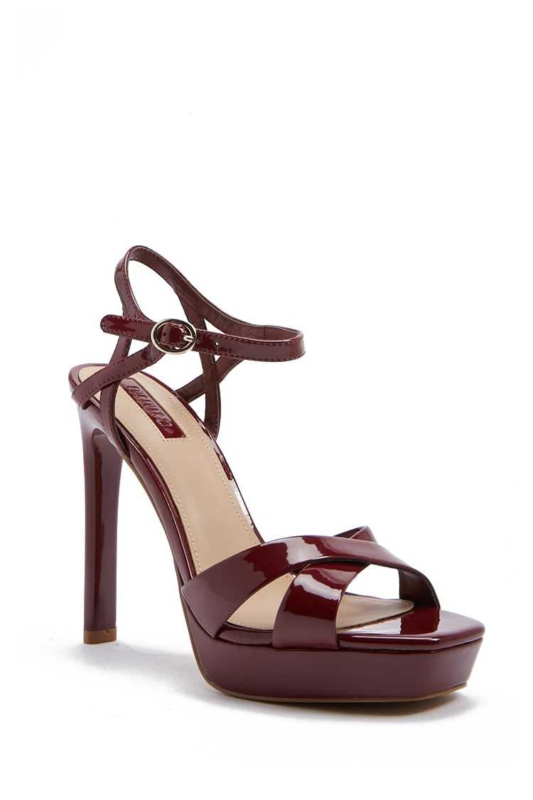 Forever 21 Faux Patent Leather Platform Heels