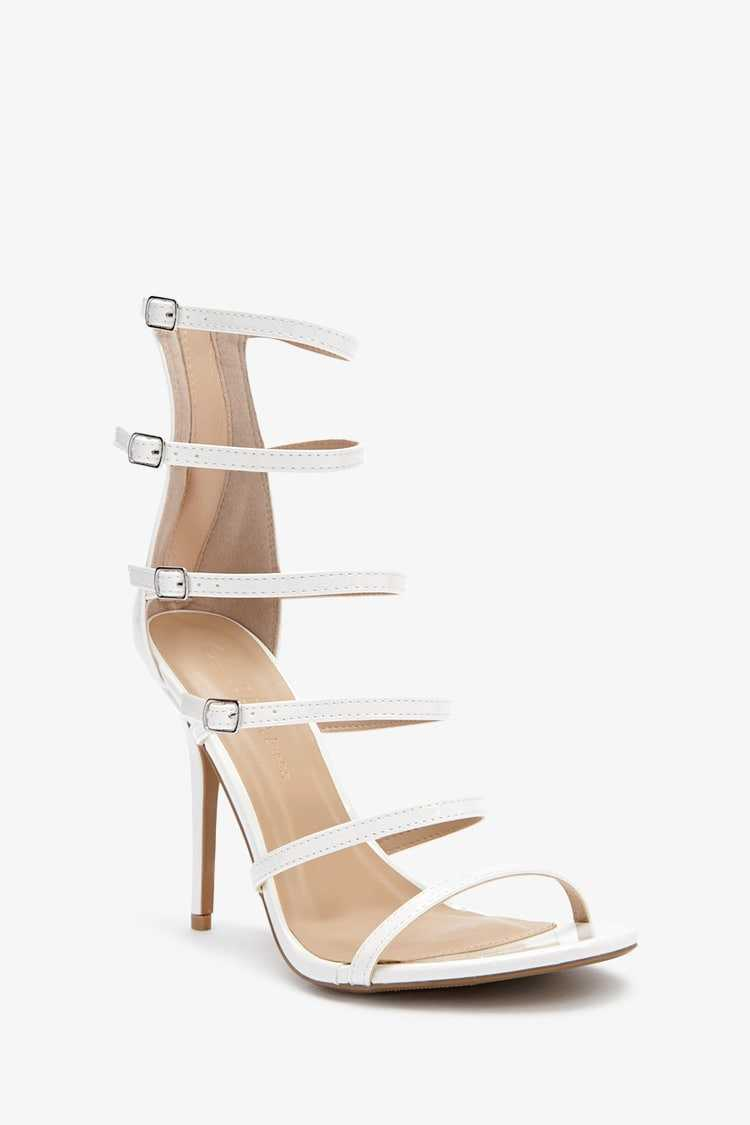 Forever 21 Faux Patent Leather Strappy Heels