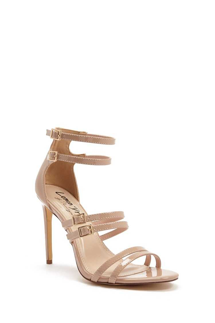 Forever 21 Faux Patent Leather Strappy Stilettos