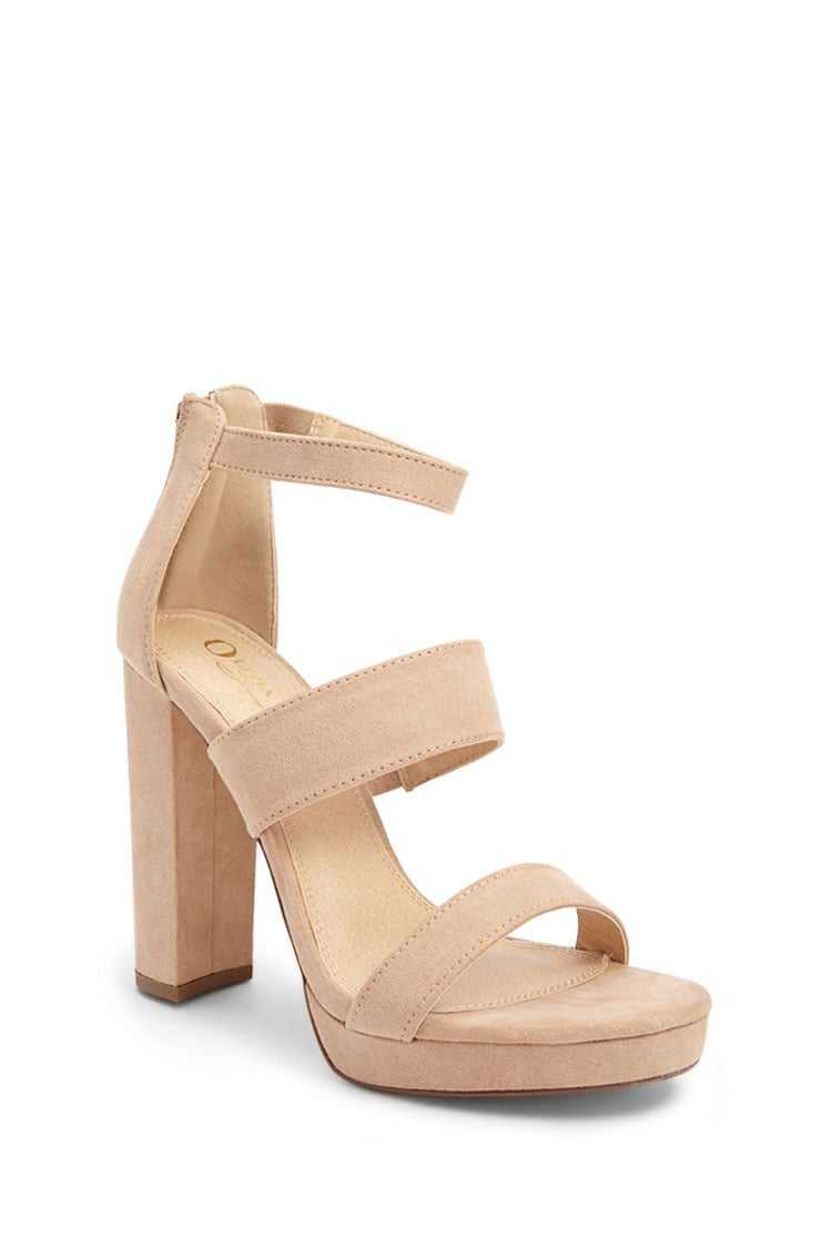 Forever 21 Faux Suede Chunky Heels